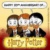 20th anniversary of Harry Potter by TedJohansson