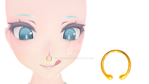 MMD Nose Piercing + DL by Lumanaera
