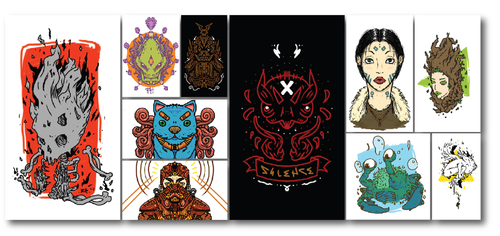 Mobile Doodles Collection by RoastedHead