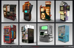 Aenigma - Vending Machine Concept Art 3 - Under by W-E-Z