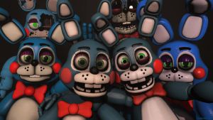 The Many faces of Toy Bonnie by ColinShooter