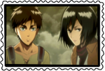 stamp: Eren and Mikasa by CogetaCats