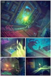 Tearaway MediaMolecule Illustrations by Odewill