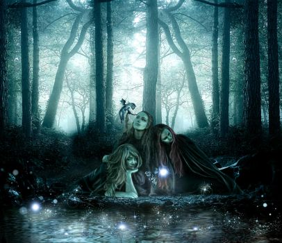 Down by the Dragon's Pond by KarinClaessonArt