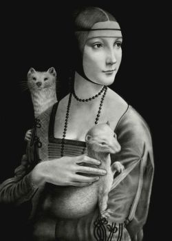 Lady with Two Ermines by VforVieslav