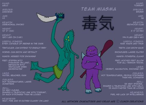 Team Miasma Reference Sheet by diglett42