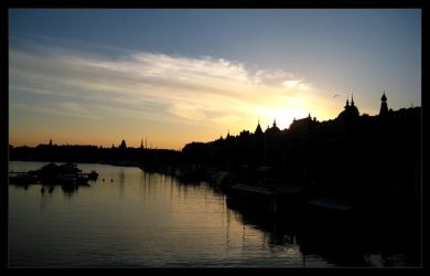 Stockholm by sunset by dileno