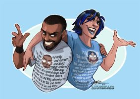 A Hundred Times Sak and Kelly by Quarter-Virus