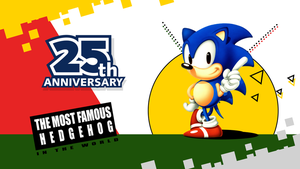 25th Classic Sonic Anniversary Wallpaper by NuryRush