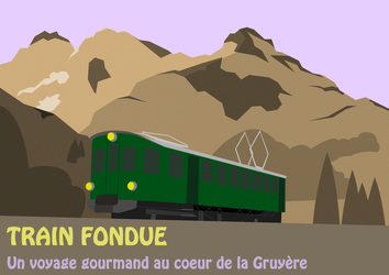 Train fondue poster by PicaFox