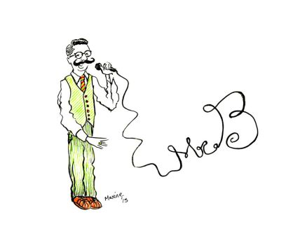 Live Sketches at Mr. B Gig 2 - Gentleman Rhymer by maxine