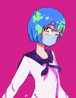 Earth-chan by Kafzz