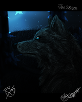 Wolf In Photoshop by XBlackIce