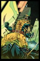 Wolverine Tokyo Cover COLORS by Doug Garbark by DougGarbark