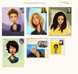 painting cartoon portrait commissions by eydii