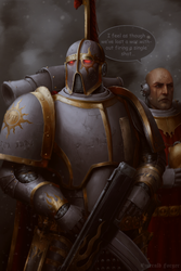Argel Tal and Xaphen on the ruins of Monarchy by ArhPriest
