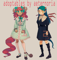 (CLOSE) DEMON GIRL ADOPTABLES AUCTION by aeternoria