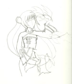 Girl and fish WIP by Yurisnow