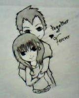 2012 drawing - together forever =) by nielopena