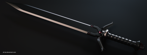 Commission Sci-fi Sword by AH-Kai