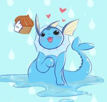 day 19: vaporeon by c0baltjuce