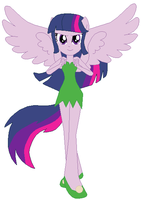 Twilight Sparkle as Tinker Bell by user15432