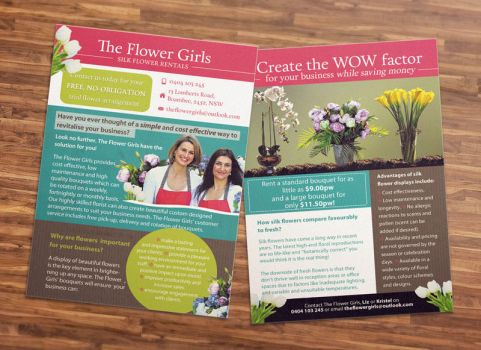 Flyer Design for Florist by ClementineCreative