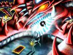 Slifer the Sky Dragon attack with Thunder Force by Banditcat123