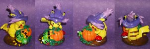 Halloween Pikachu Sculpture by KingMelissa