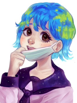 Earth-chan by Nasuki100
