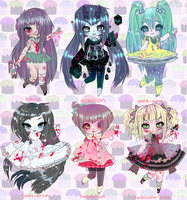 JAPANESE URBAN LEGEND ADOPTABLES OPEN 1 DAY LEFT by minnoux