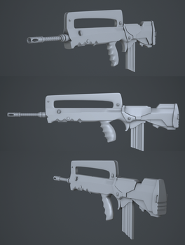 FAMAS by Littlenorwegians