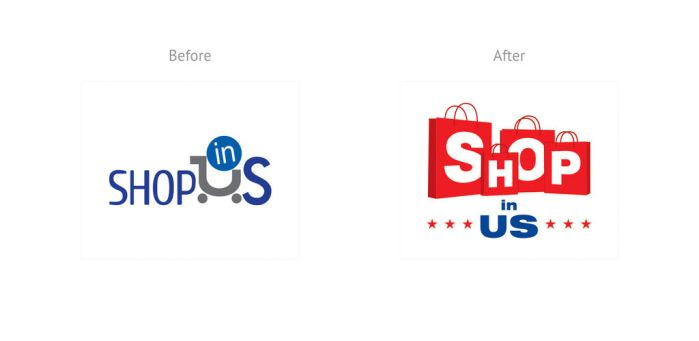 Shop in US logo redesign by xplight