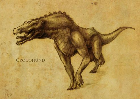 C, H, and MB - Crocohund by tacticangel