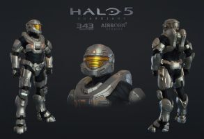 Halo 5 Multiplayer Armor Decimator by polyphobia3d