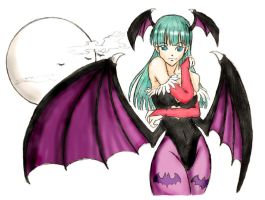 Morrigan by bluekensou