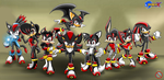 CM: Sonic character Shadow Versions by shadowhatesomochao