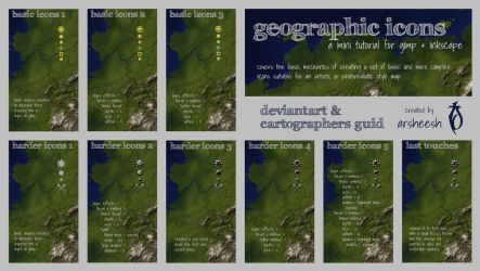 Geographic Icons Mini-Tutorial by arsheesh