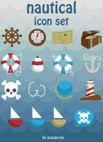 Nautical Icon Set--download by manda-pie