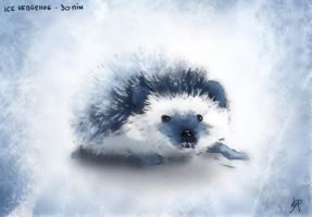 ice hedgehog by tranenlarm