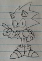 Mania-styled Sonic sketch by TacticalBacon84