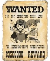 Wanted Ash and Misty Poster by manaphy258