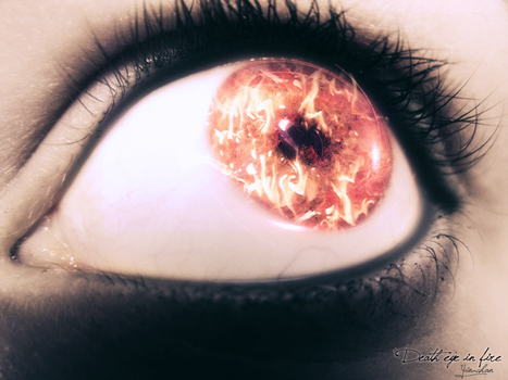 Death eye in fire by yiny-chan