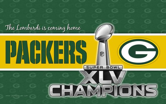 Packers Wall Super Bowl Champs by gp-media-labs