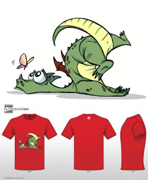 Cute Monsters T-shirt Clumsy Dragon by ElementJax