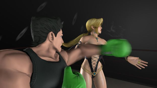 Helena gets pummeled (view 2) by anotherpunisher