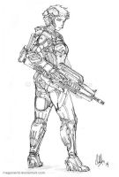 Armored Girl Astra by MeganeRid