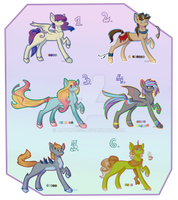 Pony Adoptables [MOVED] by Siinys