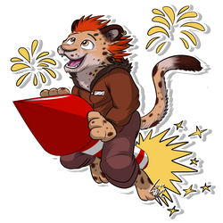 Furvester (Telegram Sticker) 03 by lobowupp