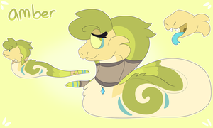 amber ref sheet (REDESIGN) by SSnekure